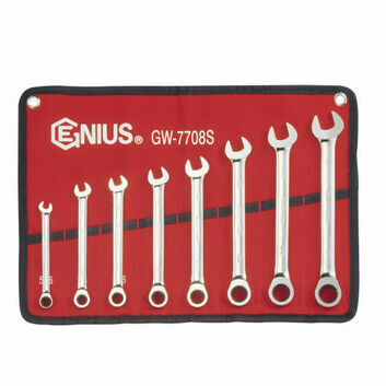 Genius Tools Imperial Combination Ratchet Spanner Set