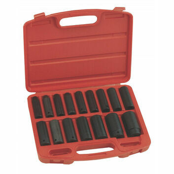 "Genius Tools 1/2"" drive impact socket set 16PC IMPERIAL"