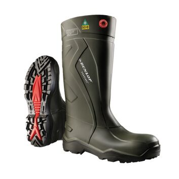 Dunlop Purofort Plus Full S5 Safety Wellington Boots Green