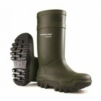 Dunlop Purofort Thermo Plus S5 Full Safety Green Wellington Boots