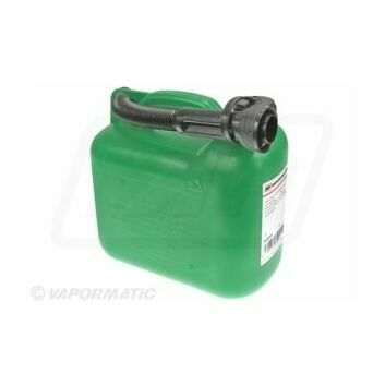 Green Plastic Fuel Container - 5 Litres