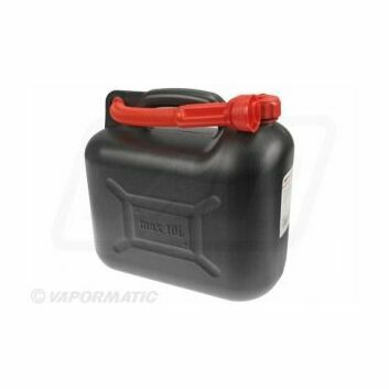 Black plastic fuel container 10ltr
