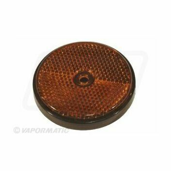 Round Orange Reflector (61mm)