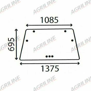 Cab Glass- DX4, DX6, DX7, DX8- Rear Window