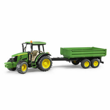 Bruder John Deere 5115M Tractor with tipping trailer 1:16