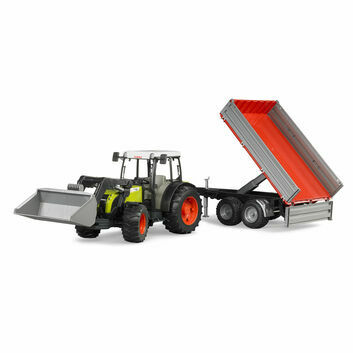 Bruder Claas Nectis 267 F Tractor with Front Loader + Tipping Trailer 1:16