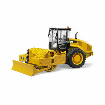 Bruder CAT Vibratory Soil Compactor with Levelling Blade 1:16