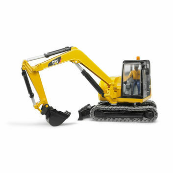Bruder Cat Mini excavator with worker 1:16