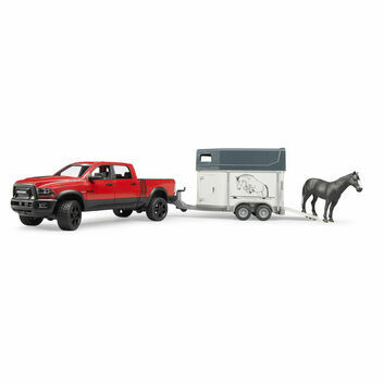 Bruder RAM 2500 Power Wagon + Trailer & Horse 1:16