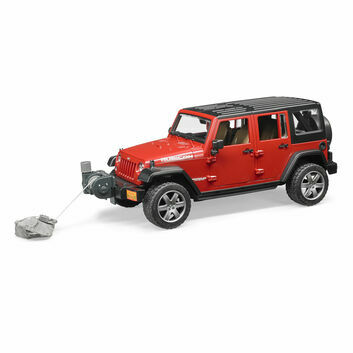 Bruder Jeep Red Wrangler Unlimited Rubicon 1:16