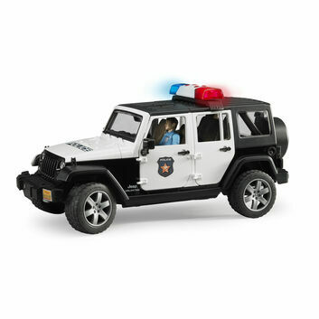Bruder Jeep Wrangler Unlimited Rubicon Police Vehicle with Policeman 1:16