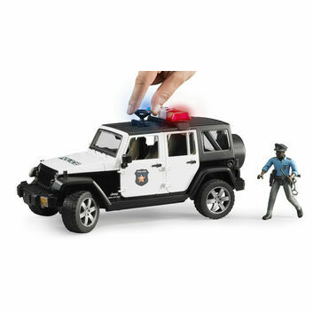 Bruder Jeep Wrangler Unlimited Rubicon Police vehicle and policeman 1:16