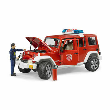 Bruder Jeep Wrangler Unlimited Rubicon fire department vehicle with fireman 1:16