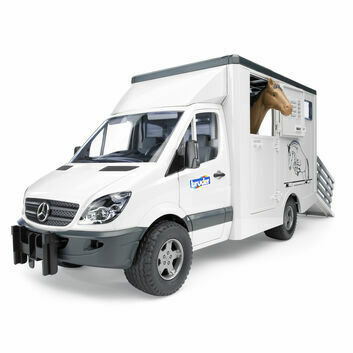 Bruder MB Sprinter Horse Box Transporter with Horse 1:16