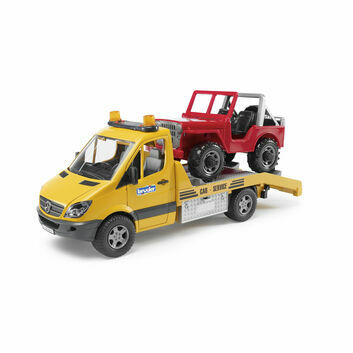 Bruder Mercedes Benz Sprinter Transporter Recovery with Cross Country Vehicle 1:16