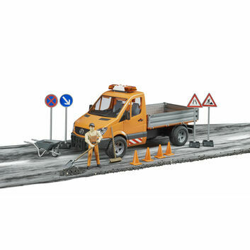 Bruder MB Sprinter Municipal, Worker and Accessories 1:16