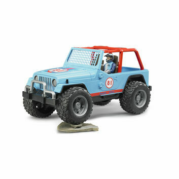 Bruder Jeep Cross Country racer blue with driver 1:16
