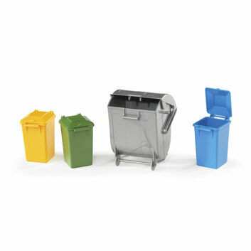 Bruder Four Garbage Rubbish Bin Set 1:16