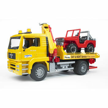 Bruder MAN TGA Breakdown-Truck with Cross Country Vehicle 1:16