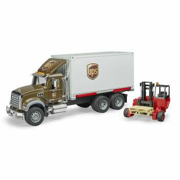 Bruder Mack Granite UPS Logistics Truck with Forklift 1:16