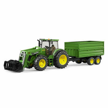 Bruder John Deere 7930 Tractor with Front Loader + Tipping Trailer 1:16