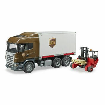 Bruder Scania R-Series UPS Logistics Truck with Forklift 1:16
