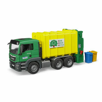 Bruder MAN TGS rear loading garbage truck (green) 1:16