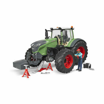 Bruder Fendt 1050 Vario Tractor with Mechanic + Garage Equipment 1:16