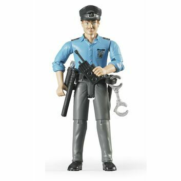 Bruder White Policeman with Accessories 1:16