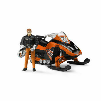 Bruder Snowmobile/Skimobile with driver and accessories 1:16