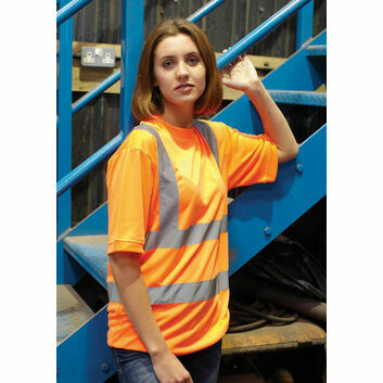 Yoko Hi Vis Short Sleeve T Shirt - Orange