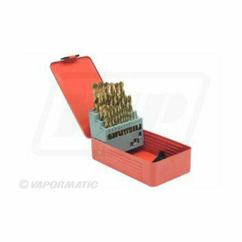 29 Piece Titanium Coated Drill Bit Set 1/16-1/2\