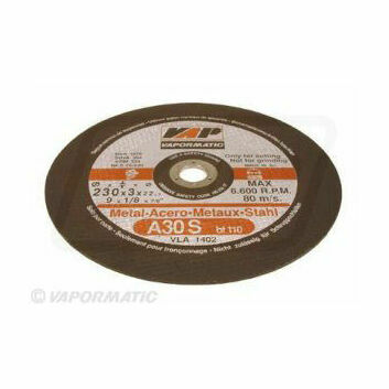 10 x 230mm Flat Metal Cutting Discs