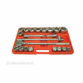 21 piece socket set 3/4