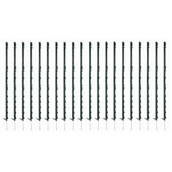 20 x 140cm Hotline Green CP14HG Plastic Paddock Electric Fence Posts
