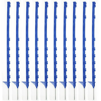 10 x 105cm Hotline Blue CP2000B Multiwire Electric Fence Posts