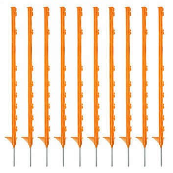 10 x 105cm Hotline Orange CP2000O Multiwire Electric Fence Posts