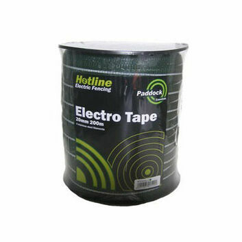 Hotline C43G-2 Green Paddock Tape - 20mm x 200m