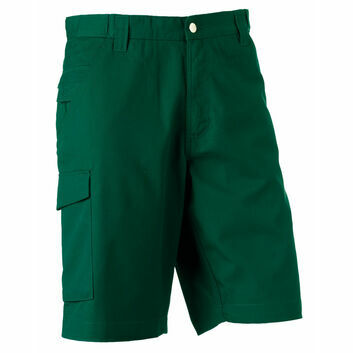Russell Polycotton Twill Shorts - Bottle Green
