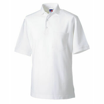 Russell Men's Heavy Duty Polo Shirt - White
