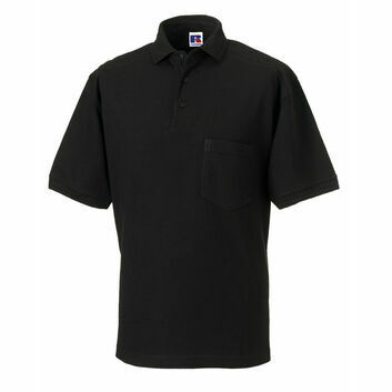 Russell Men's Heavy Duty Polo Shirt - Black