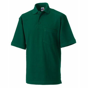 Russell Men's Heavy Duty Polo Shirt - Bottle Green