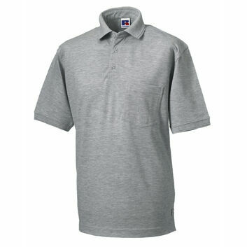 Russell Men's Heavy Duty Polo Shirt - Light Oxford