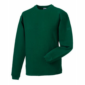 Russell Crew Neck Set In Sweatshirt - Bottle Green