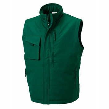 Russell Heavy Duty Gilet - Bottle Green