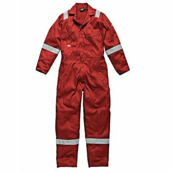 Dickies Hi-Vis Stripe Coverall - Red