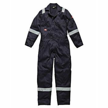 Dickies Hi-Vis Stripe Coverall - Navy Blue