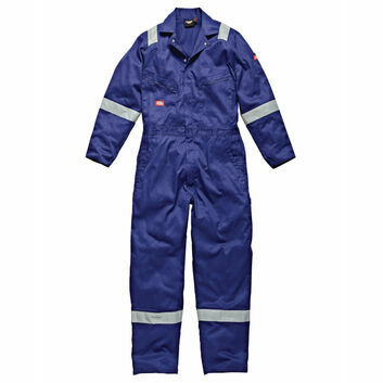 Dickies Hi-Vis Stripe Coverall - Royal Blue