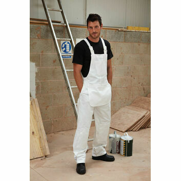 Dickies Decorator's Bib and Brace - White