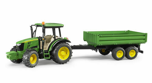 Bruder John Deere 5115M Tractor with tipping trailer 1 16